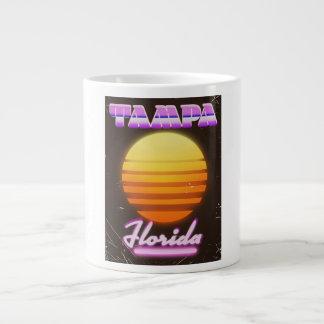 Caneca De Café Grande Poster de viagens do vintage 80s de Tampa Florida