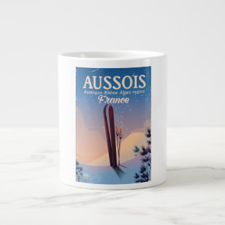 Caneca De Café Grande Poster do esqui de Aussois Auvergne-Rhône-Alpes