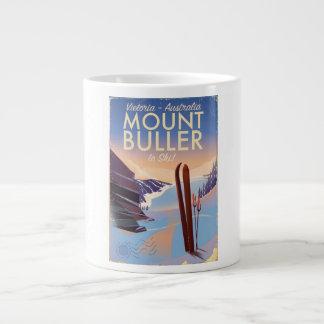 Caneca De Café Grande Poster do esqui do vintage de Buller Austrália da