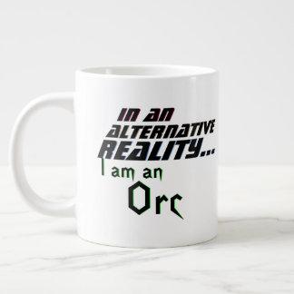 Caneca De Café Grande Realidade alternativa mim Orc