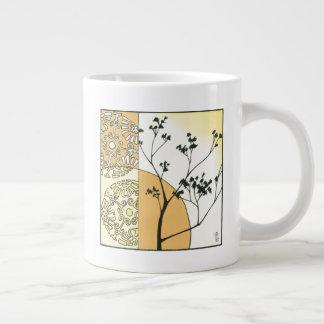Caneca De Café Grande Silhueta escassa da árvore por Megan Meagher