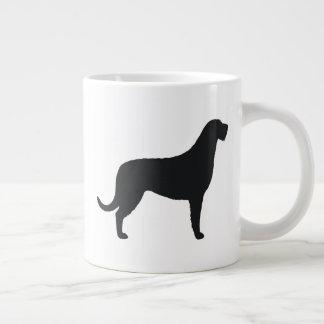 Caneca De Café Grande Silhuetas do Wolfhound irlandês