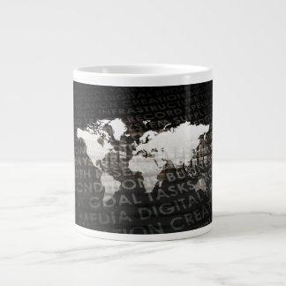 Caneca De Café Grande Sistema de serviços global da assinatura como uma