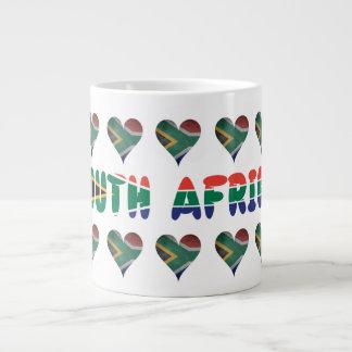 Caneca De Café Grande Sul - corações africanos