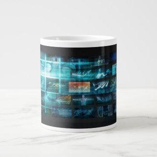 Caneca De Café Grande Tecnologia da informação ou ELE Infotech como uma