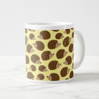 Caneca De Café Grande Teste padrão sem emenda dos ouriços (ver.2)