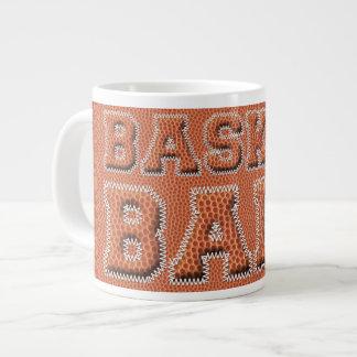 Caneca De Café Grande Texto e textura do basquetebol
