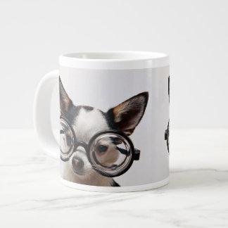 Caneca De Café Grande Vidros da chihuahua - eyeglasses do cão