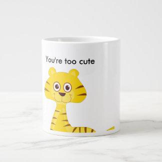 Caneca De Café Grande Você é demasiado bonito