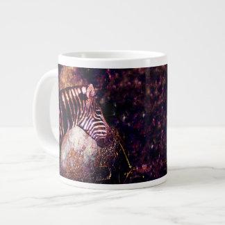 Caneca De Café Grande Zebra celestial do eclipse dos equídeos