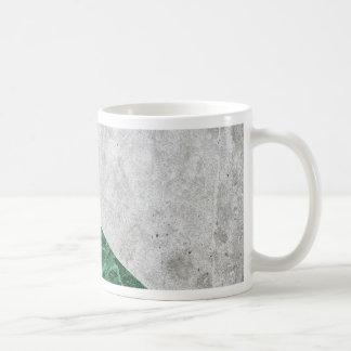 Caneca De Café Granito concreto #412 do verde da seta