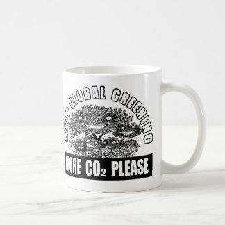 Caneca De Café Greening global da ajuda - mais CO2 por favor
