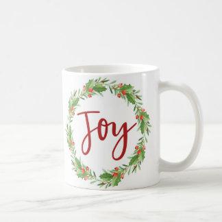 Caneca De Café Grinalda-alegria do Natal