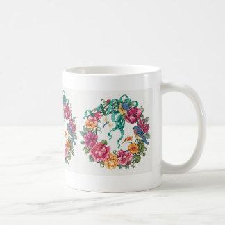 Caneca De Café Grinalda floral