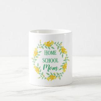 Caneca De Café Grinalda Home floral amarela e verde da mamã da