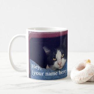 Caneca de café gritando canhota personalizada do