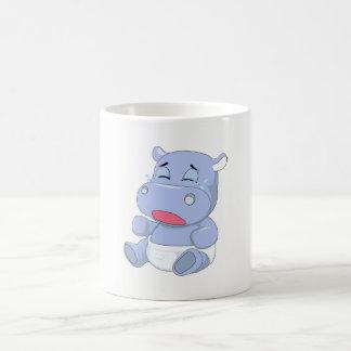 Caneca De Café Grito do hipopótamo do bebê