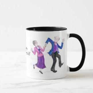 Caneca de café Groovy das avós
