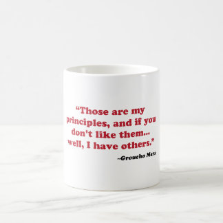 Caneca De Café Groucho Marx - princípios