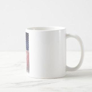 Caneca De Café Grunge da bandeira dos EUA