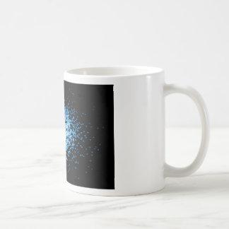 Caneca De Café Grupo grande de vírus azuis no mycorscope