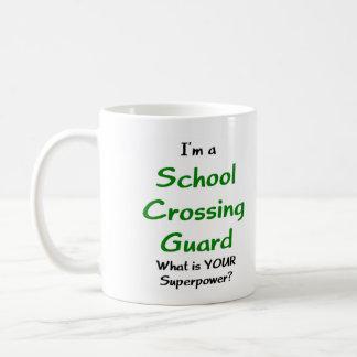 Caneca De Café Guarda de cruzamento da escola