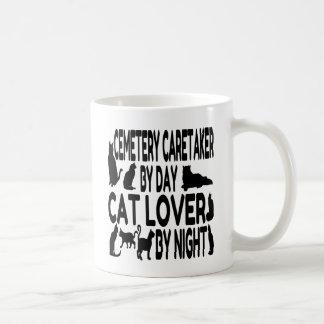 Caneca De Café Guarda do cemitério do amante do gato