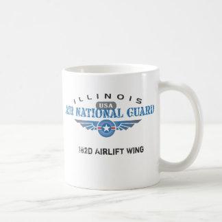 Caneca De Café Guarda nacional do ar de Illinois - EUA