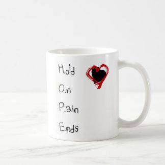 Caneca De Café Guardare em extremidades da dor