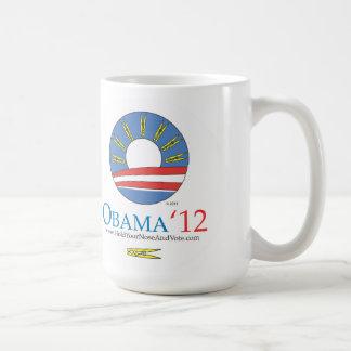 Caneca De Café Guardare seu nariz e vote Obama 2012