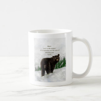 Caneca De Café Guia inspirado do espírito do totem animal do urso