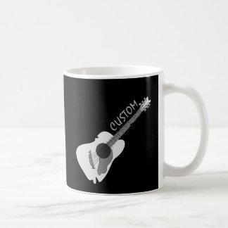 Caneca De Café Guitarra acústica abstrata distorcida