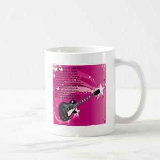 Caneca De Café Guitarra - poema cor-de-rosa do amigo