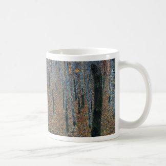 Caneca De Café Gustavo Klimt - bosque da faia. Animais selvagens