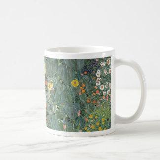Caneca De Café Gustavo Klimt - flores dos girassóis do jardim do