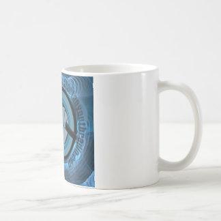Caneca De Café Gyre azul eterno