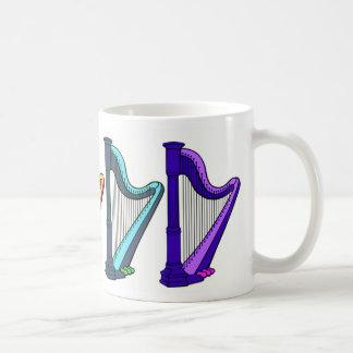 Caneca De Café harpa do arco-íris