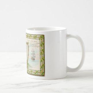 Caneca De Café Harpa & senhora originais do dia de patrick de