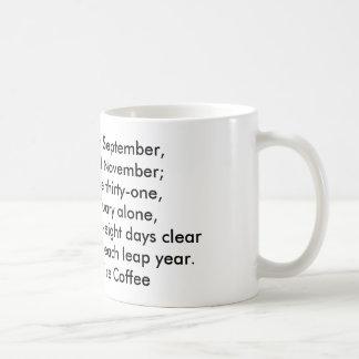 Caneca De Café Hath setembro de trinta dias