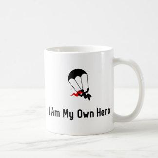 Caneca De Café Herói de salto de pára-quedas