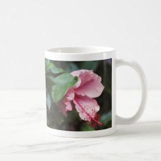 Caneca De Café hibiscus cor-de-rosa