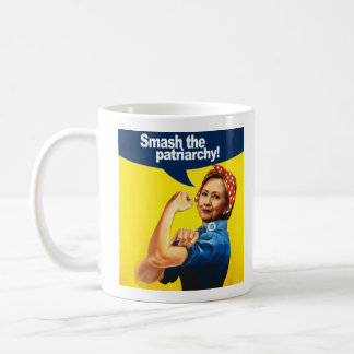 Caneca De Café Hillary o rebitador - quebra o patriarcado --