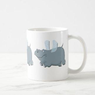 Caneca De Café Hipopótamo do vôo