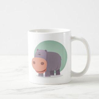 Caneca De Café Hipopótamo dos desenhos animados