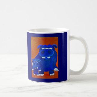 Caneca De Café Hipopótamo e filho