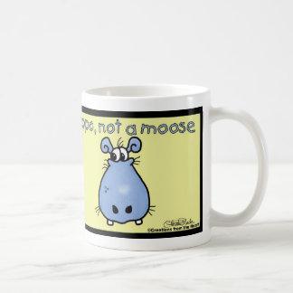 Caneca De Café Hipopótamo-não-um-alces!