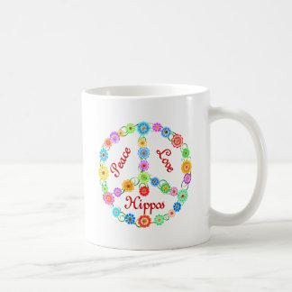 Caneca De Café Hipopótamos do amor da paz