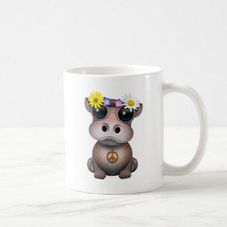 Caneca De Café Hippie bonito do hipopótamo do bebê