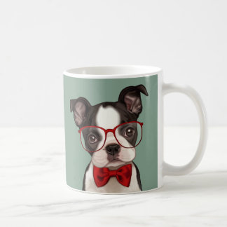 Caneca De Café Hipster Boston Terrier