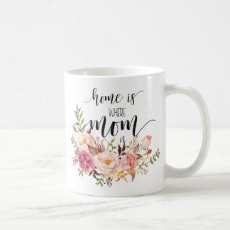 """Caneca De Café """"Home é onde a mamã é"""" presente do dia das"""